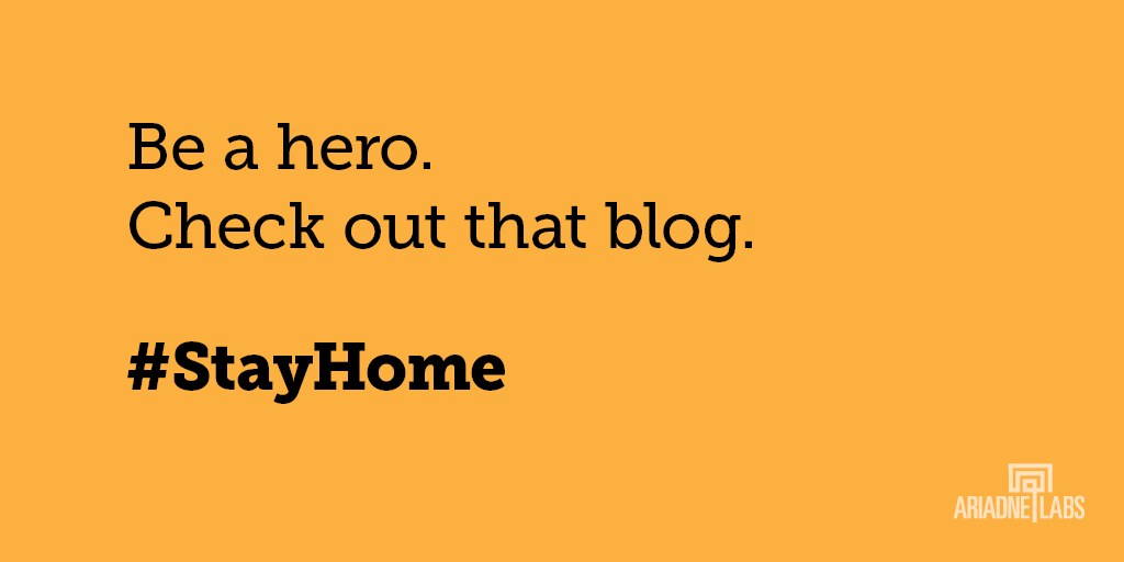 Be a hero. Check out that blog. #StayHome