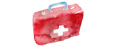Illustration of a first aid kit