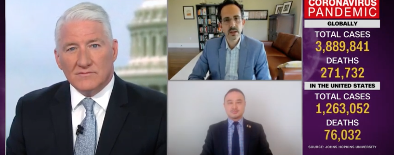 Image of YouTube video player with Asaf Bitton speaking with CNN host John King